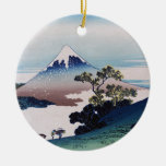 Koshu inume-toge, Hokusai Double-Sided Ceramic Round Christmas Ornament