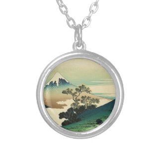 Koshu Inume Toge - Katsushika Hokusai Ukiyo-e Art Silver Plated Necklace