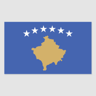 Kosovo/bandera kosovar pegatina rectangular