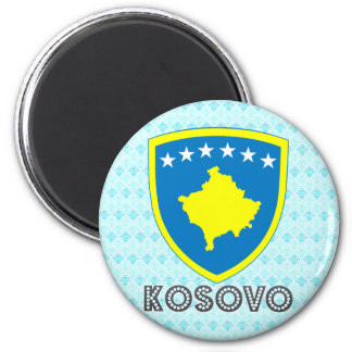 Kosovo Coat of Arms 2 Inch Round Magnet