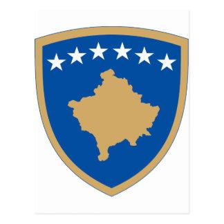 Kosovo coat of arms postcard
