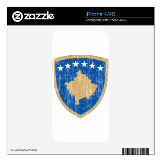 Kosovo Coat Of Arms Decals For iPhone 4