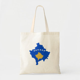 kosovo country flag map shape silhouette tote bag