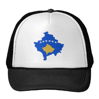 kosovo country flag map shape silhouette trucker hat