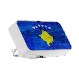 Kosovo distressed flag notebook speaker