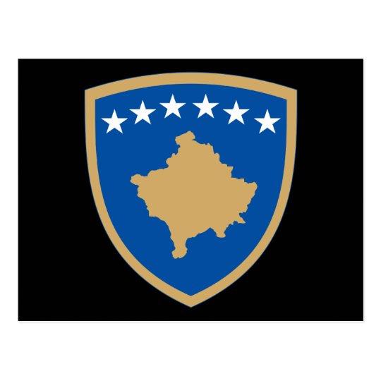 kosovo emblem postcard