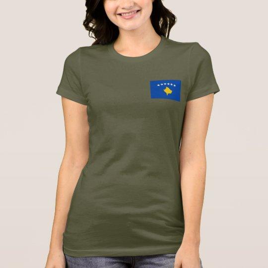 Kosovo Flag and Map dk T-Shirt