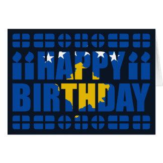 Kosovo Flag Birthday Card