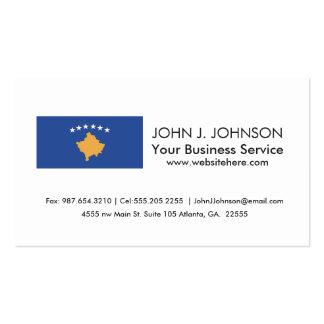 Kosovo Flag Business Card