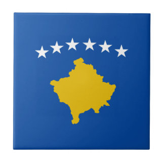 Kosovo Flag Ceramic Tile