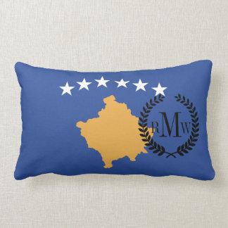 Kosovo Flag Lumbar Pillow