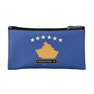 Kosovo Flag Makeup Bag