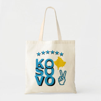 Kosovo Flag Map Tote Bag