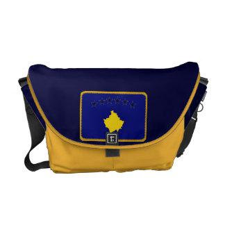 Kosovo flag messenger bag