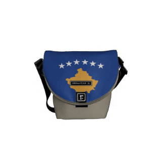 Kosovo Flag Messenger Bag