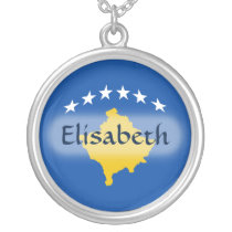 Kosovo Flag   Name Necklace