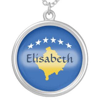 Kosovo Flag + Name Necklace