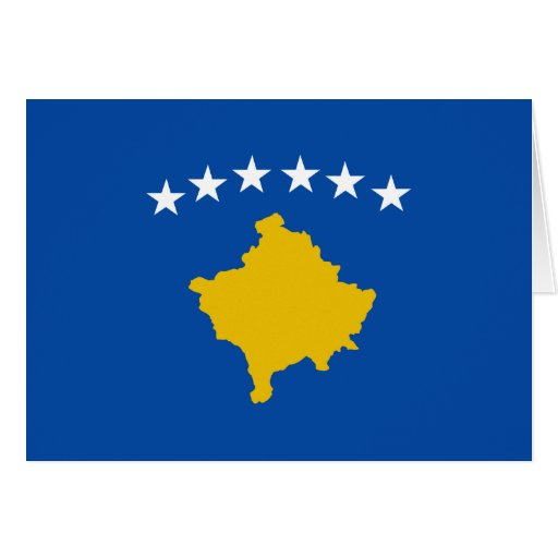 Kosovo Flag Notecard Greeting Cards