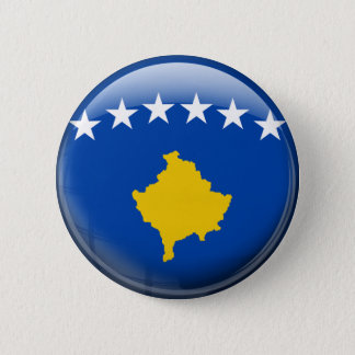 Kosovo Flag Pinback Button