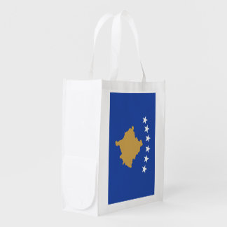 Kosovo Flag Reusable Grocery Bag