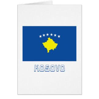 Kosovo Flag with Name Card