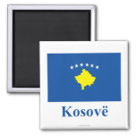 Kosovo Flag with Name in Albanian Refrigerator Magnets