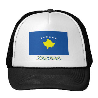 Kosovo Flag with name in Russian Trucker Hat