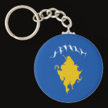 Kosovo Gnarly Flag Keychain
