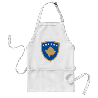 Kosovo Official Coat Of Arms Heraldry Symbol Adult Apron