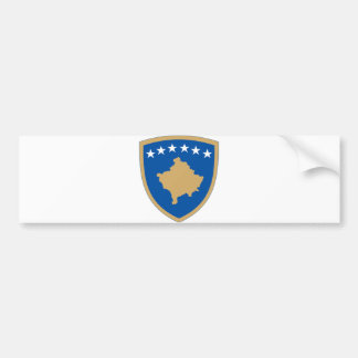 Kosovo Official Coat Of Arms Heraldry Symbol Bumper Sticker