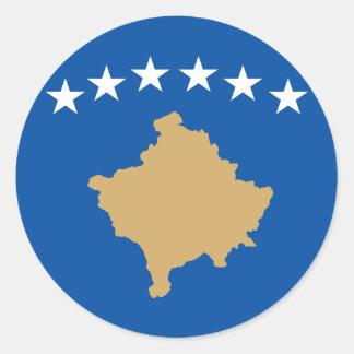 Kosovo Pegatina Redonda
