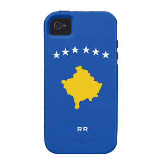 Kosovo Six Stars Flag On Blue iPhone 4/4S Covers