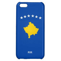 Kosovo Six Stars Flag On Blue iPhone 5C Cover at Zazzle