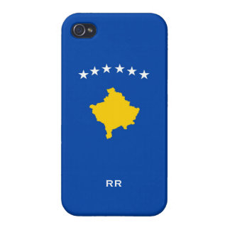 Kosovo Six Stars Flag On Blue Case For iPhone 4