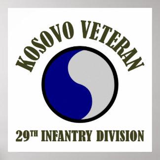 Kosovo Veteran - 29th ID Poster