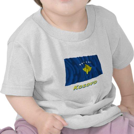 Kosovo Waving Flag with Name T-shirts