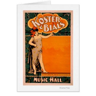 Koster & Bial's Music Hall Near Broadway Card