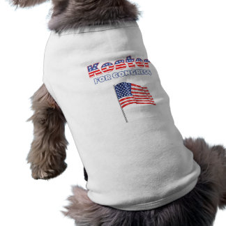 Koster for Congress Patriotic American Flag Dog T Shirt