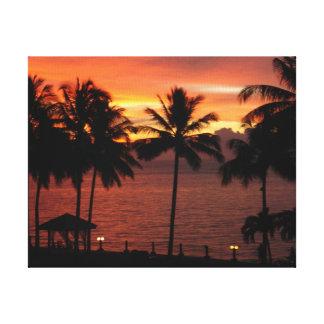 Kota Kinabalu Malaysia Sunset Canvas Print