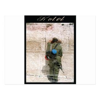 kotel soldier postcard