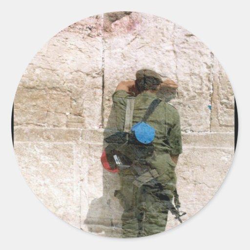 kotel soldier round stickers