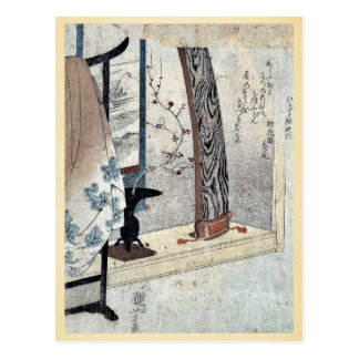 Koto and robe stand by Utagawa, Kuniyoshi Ukiyoe Postcard