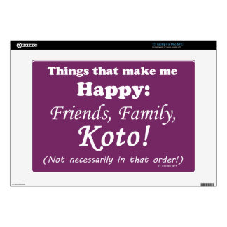 Koto Makes Me Happy Decal For Laptop