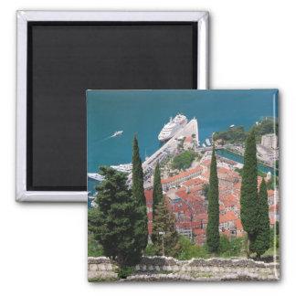 Kotor in Montenegro Square Magnet