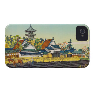 Kotozuka Eiichi, templo de Yakushi y la vecindad iPhone 4 Case-Mate Carcasa