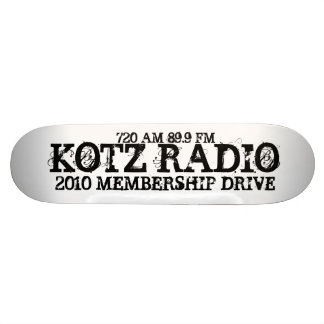 KOTZ RADIO, 2010 MEMBERSHIP DRIVE, 720 AM 89.9 FM SKATEBOARD