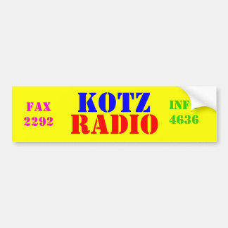 KOTZ, RADIO, 720, PEGATINA DE PARACHOQUE