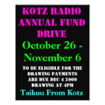 "KOTZ RADIO ANNUAL FUND DRIVE, 2009 , October 26... 8.5"" X 11"" Flyer"