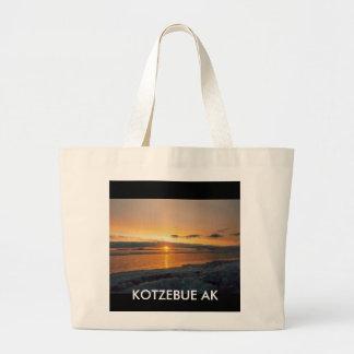 kotzebue sunset, KOTZEBUE AK Large Tote Bag