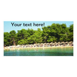 Koukounaries beach, Greece Personalized Photo Card